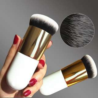 2017 Chubby Foundation Brush White and Brown Makeup Brush Fast Make up Brushes Beauty Essential Makeup Tools