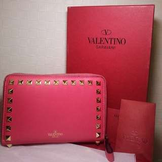 100%正品超靚色名牌Valentino短銀包(呢個款少有)