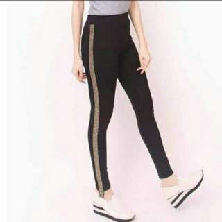 Versace stripe gold pants legging import bkk bangkok