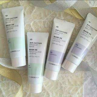The faceshop air cotton make up base spf 30++