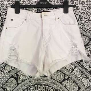 High white shorts