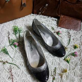 Authentic Chanel Ombre Sequin Ballet Flats Size 36