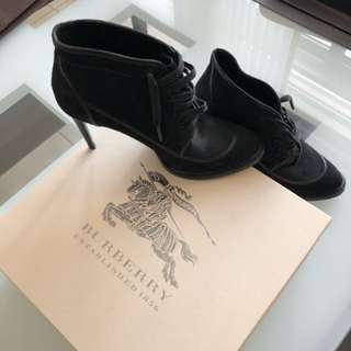 Burberry Boots Black Pony Hair Authentic