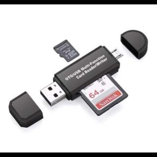 Multifunctional USB reader, SD card, Micro SD card ect