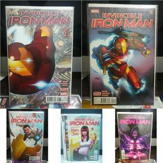Invincible Iron Man #1 - #5