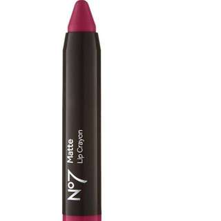 No 7 matte lip crayon