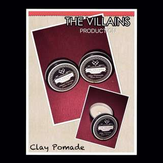 The Villains Production Clay Pomade