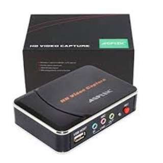 AGPtek HD Game Capture Card HD Video Capture 1080P HDMI/YPBPR Video Recorder for Xbox 360 Xbox One/ PS3 PS4/ Wii U,Support Mic in with YPBPR Inpu