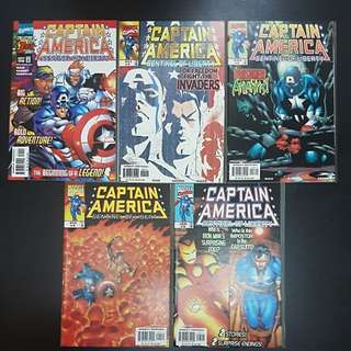 1998 9 Marvel Comics SENTINEL OF LIBERTY CAPTAIN AMERICA #1 to 9