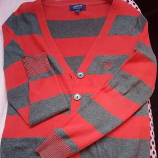 Arrow red/gray stripes cardigan