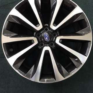 "18"" 5x100 subaru original new car trade in rim 1 set 4pc $350"