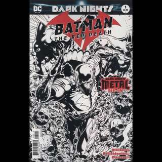 "BATMAN: THE RED DEATH #1 (2017) Sketch Variant ""Dark Nights Metal"" tie-in One-shot"