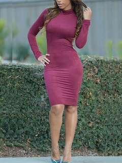 Sexy open back slim dress