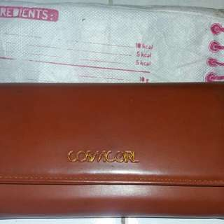 Dompet CosmicGirl warna coklat+Pouch