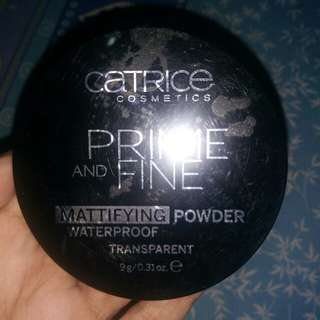 Catrice Prime and Fine Mattyfying Transparent