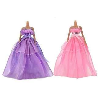 🚚 【娃衣】 芭比、可兒娃娃等時尚緞面禮服