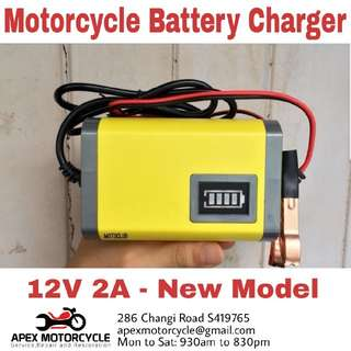 Brand New 12V 2A Battery Charger Portable suitable for most motorcycles
