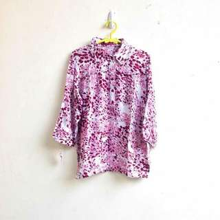 Cotton Flowers Pink Maroon