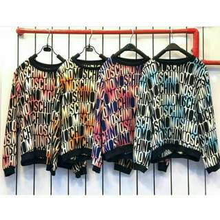 BEST SELLER 💕 LARIS BANGET !! IMPORT CINA  sweater moschino import  125.000