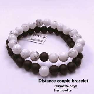 Distance couple bracelet
