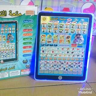 Mainan edukasi tablet 3 bahasa