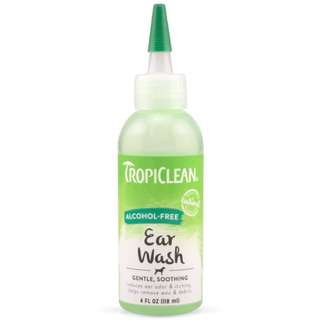 TropiClean Alcohol-Free Ear Wash for cats and dogs 4oz