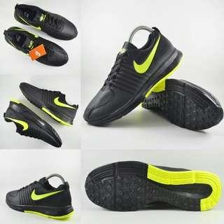 Sepatu running nike hijau stabilo