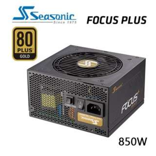 SEASONIC SSR-850FX FOCUS PLUS 850W 80 + GOLD Power Supply SKU: V28-PSUSEAFOCUS850FX