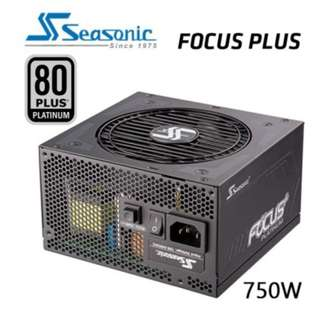 SEASONIC SSR-750PX FOCUS PLUS 750W 80 + PLATIUM Power Supply SKU: V28-PSUSEA750PXFOCUS