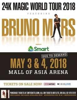 LOOKING FOR: 4 GA/Upper box tix for 24k Magic Tour (Bruno Mars)