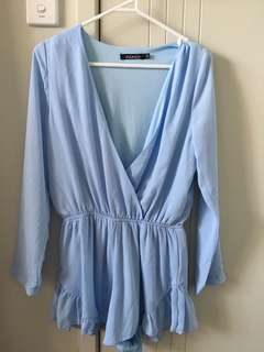 Sky blue playsuit