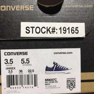 Almost new original Converse all stars Sneaker navy Color