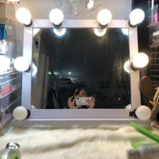 Aluminum White Vanity Mirror