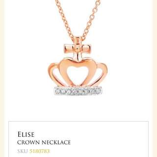 BNIB Goldheart 14K gold Crown Necklace