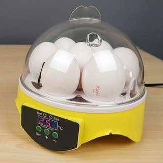 Mini 7 Egg Incubator Poultry Incubator Brooder Digital Temperature Hatchery Egg Incubator Hatcher Chicken Duck Bird Pigeon