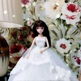 🚚 【娃衣】 新款手工新娘婚紗可穿脫禮服