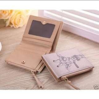 Cartoon leather small wallet