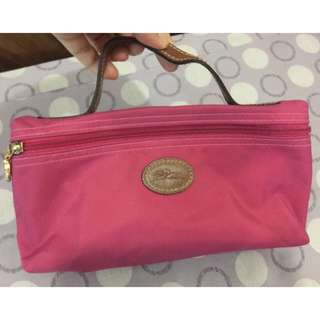 authentic and preloved Longchamp large pouch