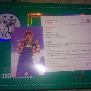 BTS 3rd Muster Jhope Photocard