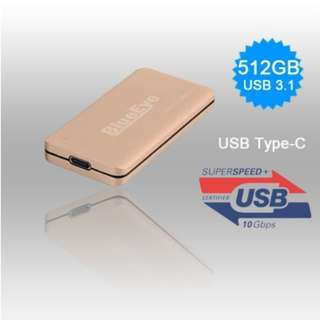 THUNDERDISK 512GB USB3.1 MSATA SSD W/USB TYPE-A MALE PLUG EXTERNAL HDD (IS-EL-1022-TU3-512GB) SKU: V28-HDDWESTU3512