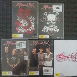 Miami Ink Collection SEASONS 1,2,3,4 & Best Tatts dvd