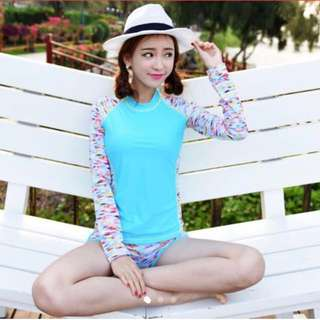 In Stock 💕Korean version of Plus size UV Rash Guard,  Swimsuit, Swimwear, Beach Wear, Snorkel Wetsuit, jellyfish wetsuit , Sport wear