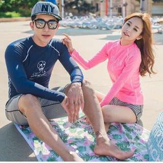 In Stock 💕Korean version of UV Rash Guard,  Swimsuit, Swimwear, Beach Wear, Snorkel Wetsuit, jellyfish wetsuit , Sport wear