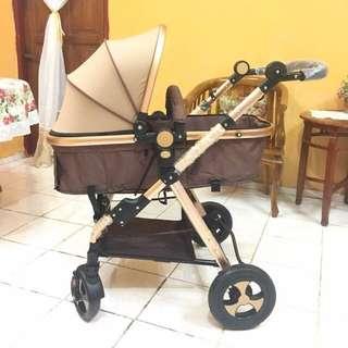 Stroller Gold Newborn Gold
