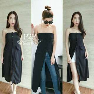Strapless long top f&a