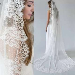 Instock - vintage dotted wedding veil