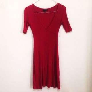 top shop red dress