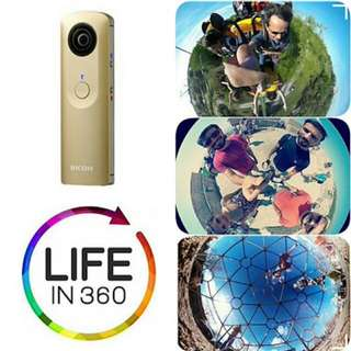 BNIB Ricoh Theta M15 360 Degree Spherical Panorama Camera (GOLD)