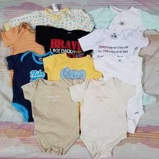Baby Boy Assorted Pajama's, Onesie's and Shirt 3-6 Months
