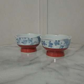 Two Japanese Bowl mint condition unused 2pcs $12